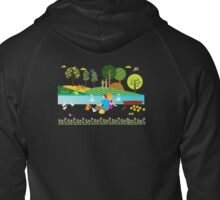 The creek at sunset  Zipped Hoodie