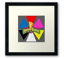 Mighty Morphin Power Rangers - Triangle Wedge Framed Print