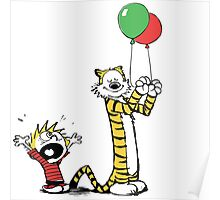 Calvin And Hobbes Balloon Fight Poster