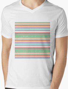 PASTEL ETHNIC ATAKAPA  Mens V-Neck T-Shirt