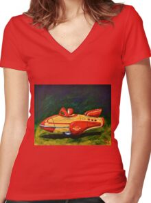 Space Patrol,2  Women's Fitted V-Neck T-Shirt