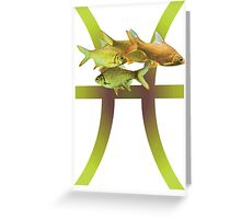 Pisces, Fish Greeting Card