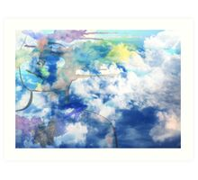Face In The Clouds Art Print