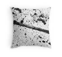 Ink on white fabric Throw Pillow