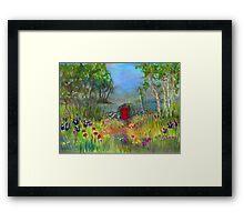 Red Door (Bright) Framed Print