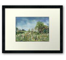 Cattails Landscape Framed Print