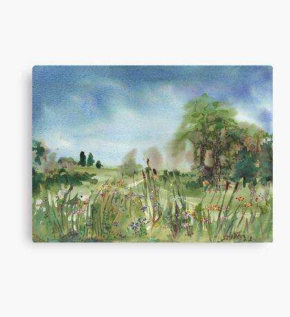 Cattails Landscape Canvas Print