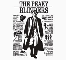 Tommy Shelby Quotes. Peaky Blinders. V2. White. Kids Tee