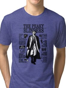 Tommy Shelby Quotes. Peaky Blinders. V2. White. Tri-blend T-Shirt