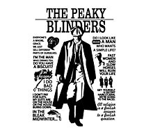 Tommy Shelby Quotes. Peaky Blinders. V2. White. Photographic Print