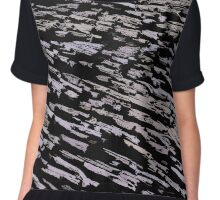 Straws, sticks, abstract pattern Chiffon Top