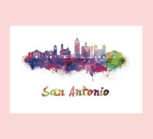 San Antonio skyline in watercolor One Piece - Long Sleeve