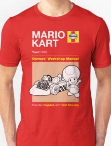 Haynes Manual - Mario Kart Toad - T-shirt Unisex T-Shirt