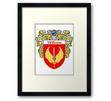 Williams Coat of Arms / Williams Family Crest Framed Print