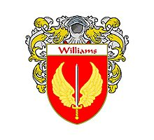 Williams Coat of Arms / Williams Family Crest Photographic Print