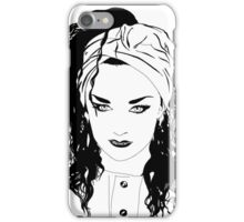 BOY GEORGE (Black & white vers.) iPhone Case/Skin
