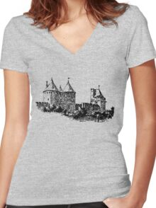 CASTLE - HISTORY Women's Fitted V-Neck T-Shirt