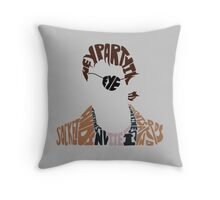 Party in my eye socket Throw Pillow