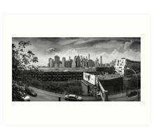 Brooklyn Promenade (BW) Art Print