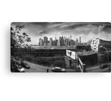 Brooklyn Promenade (BW) Canvas Print