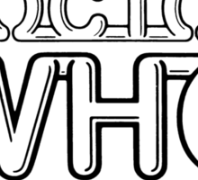 Doctor who original logo design Sticker