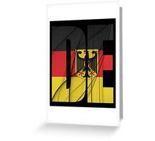 DE - Deutschland Flag Greeting Card