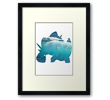Mega Swampert used Hydro Pump Framed Print