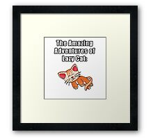 The Amazing Adventures of Lazy Cat Framed Print