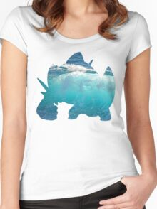 Mega Swampert used Hydro Pump Women's Fitted Scoop T-Shirt