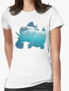 Mega Swampert used Hydro Pump Womens Fitted T-Shirt