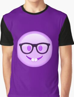 My Youtube Logo - Purple Nerd Emoji Graphic T-Shirt