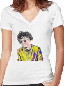 August Alsina Women's Fitted V-Neck T-Shirt