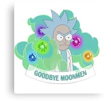 rick and morty Goodboy Moonmen Canvas Print