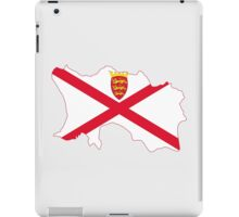 Flag Map of Jersey  iPad Case/Skin