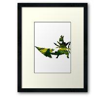 Mega Sceptile used Leaf Storm Framed Print