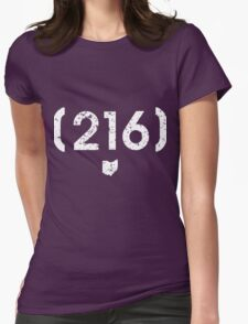 Area Code 216 Ohio Womens Fitted T-Shirt