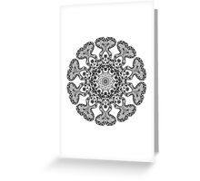 Coloring In Flower Mandala Greeting Card