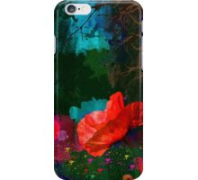 Red poppies summer iPhone Case/Skin