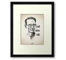 Icons - Chuck Palahniuk Framed Print