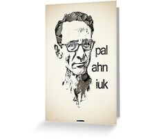 Icons - Chuck Palahniuk Greeting Card