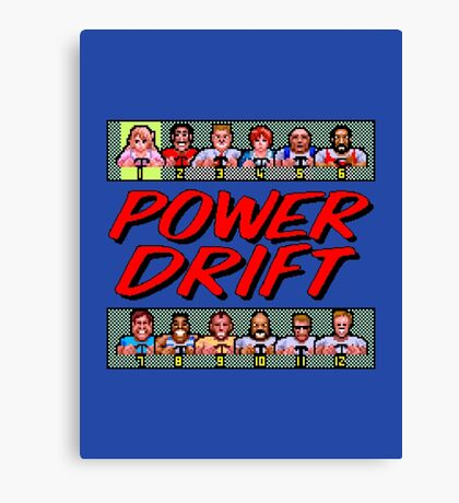 POWER DRIFT SEGA ARCADE Canvas Print