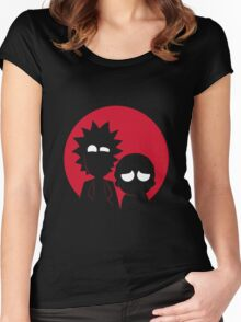 rick and morty japan Women's Fitted Scoop T-Shirt