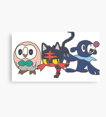 Pokemon Sun and Moon Starters Canvas Print