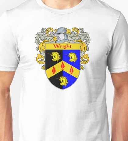 Wright Coat of Arms / Wright Family Crest Unisex T-Shirt
