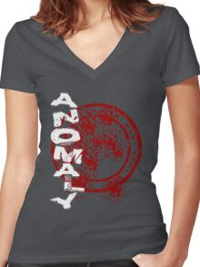 Vertical Anomaly Women's Fitted V-Neck T-Shirt