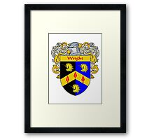 Wright Coat of Arms / Wright Family Crest Framed Print