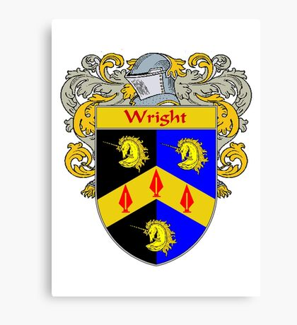 Wright Coat of Arms / Wright Family Crest Canvas Print