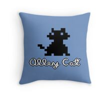 ALLEY CAT - DOS PC GAME Throw Pillow