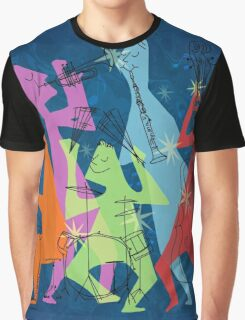 Abstract Jazz Graphic T-Shirt