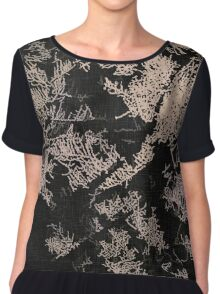 Forest trees at night Chiffon Top